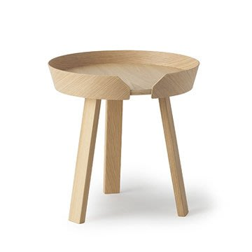 Luxury Life【預購】丹麥 Muuto Around 45cm 三角圓塔 木質 咖啡邊桌 小尺寸