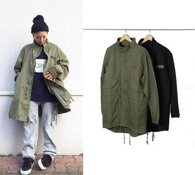 Cover Taiwan 官方直營 連帽外套 長版 風衣 大衣 軍裝 余文樂 M51 D51 黑色 軍綠色 (預購) 台北市
