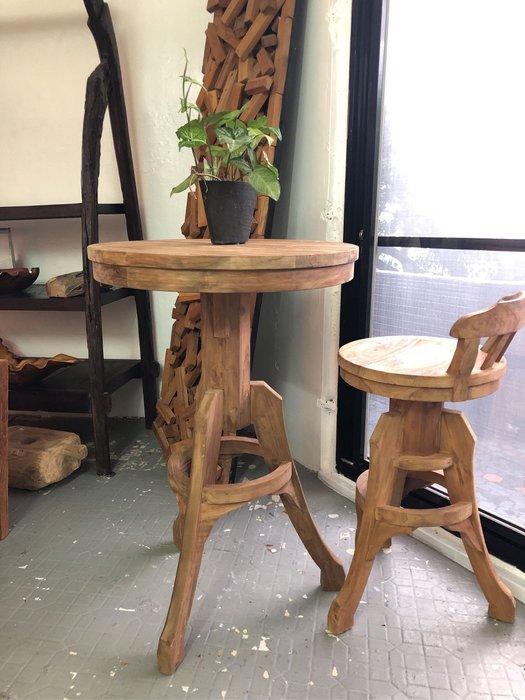 老柚木吧台桌 (LW70 H106 cm)