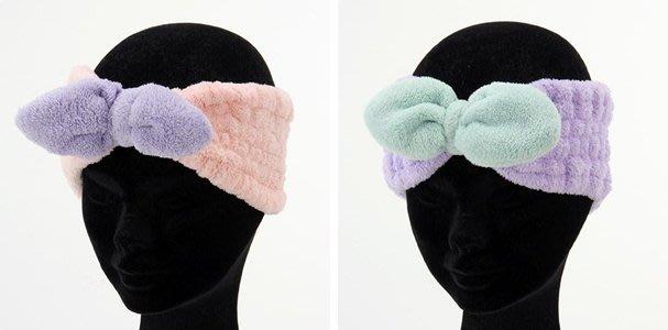【東京速購】Carari zooie 蝴蝶結 超細纖維 毛巾 吸水速乾 洗臉 化妝 髮帶