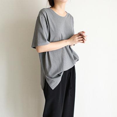 多帶一件 就有優惠 girlmonster 正韓夏季染色棉上衣 (白/米/灰/薄荷綠)【A0550】
