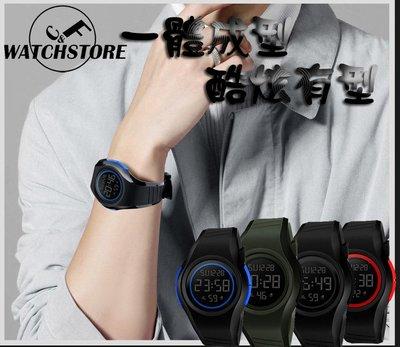 C&F 【SKMEI】一體成型LED數字50M防水運動手錶 男錶女錶中性錶 媲美卡西歐CASIO G-SHOCK