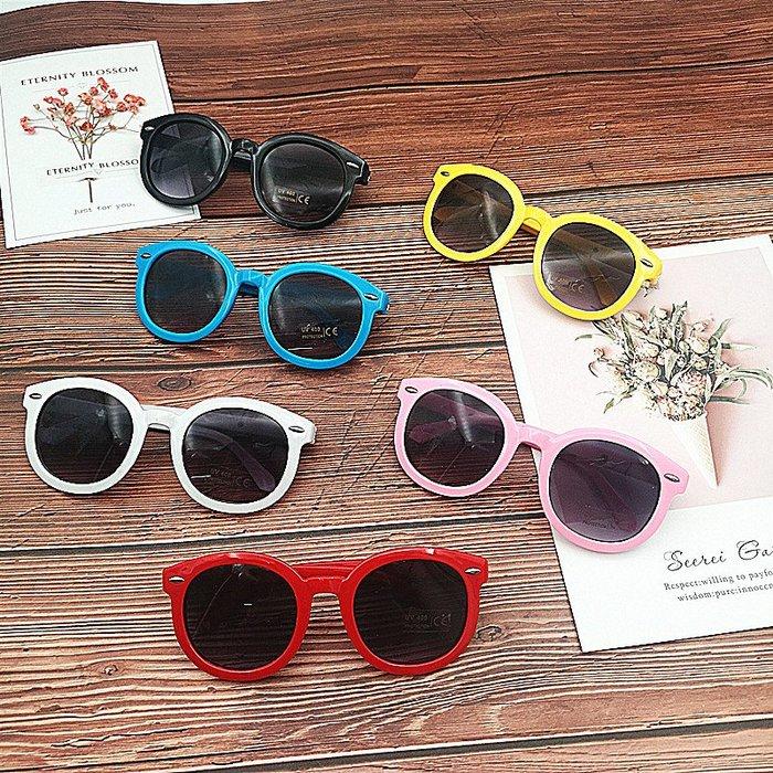 SX千貨鋪-兒童太陽眼鏡酷男女嬰幼寶寶1-3-12歲防紫外線黑色框墨鏡潮#男女童太陽鏡#可愛#眼鏡#時尚