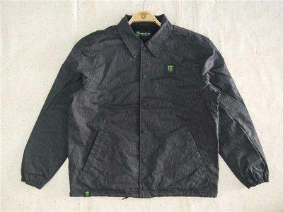 Cover Taiwan 官方直營 MONSTER ENERGY 鬼爪 重機 風衣 教練外套 教鍊夾克 黑色 (預購)