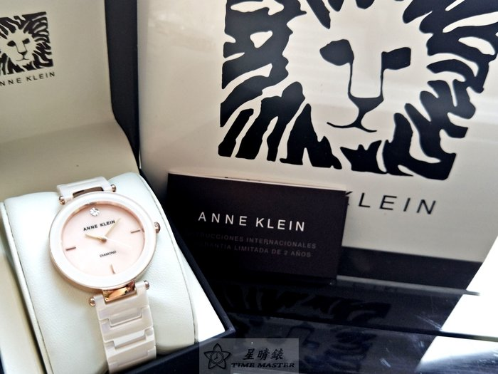 Anne Klein手錶時尚精品錶款,編號:AN00033,玫瑰金色錶面粉紅色陶瓷錶帶款