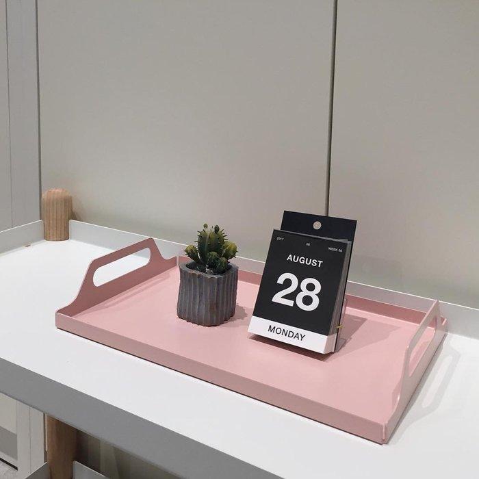 【凱洛詩家飾】 北歐創意托盤 簡約設計 大小尺寸 四色選 小號售價