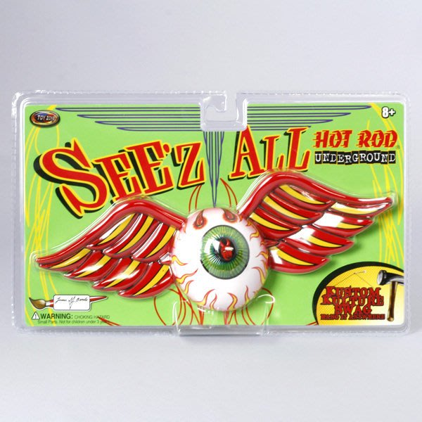 (I LOVE樂多)美國進口HOT ROD 眼球吊飾/裝飾品 有趣具裝飾藝術 送人自用兩相宜