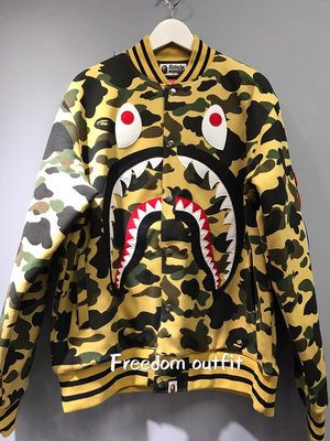 [FDOF] BAPE 黃迷彩 MA1帽夾 高磅 黃迷彩鯊魚夾克 日本公司貨
