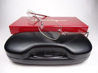 信義計劃 眼鏡 Salvatore Ferragamo 費洛加蒙 金屬無框 rimless glasses 1608