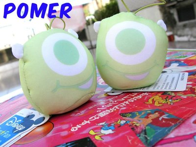 ☆POMER☆ 景品SEGA絕版正品 迪士尼 Pixar 怪獸大學 大眼仔 麥克華斯基 沙沙 大頭娃娃玩偶吊飾