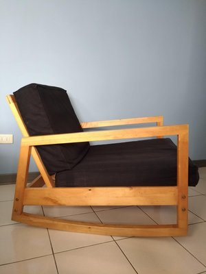 IKEA 木製可調式坐臥扶手椅/二手