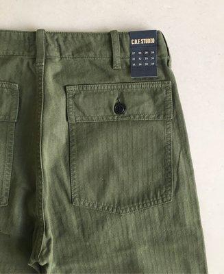 牛仔之星全新COF Studio Fatigue Pant HBT軍綠色休閒褲麵包褲