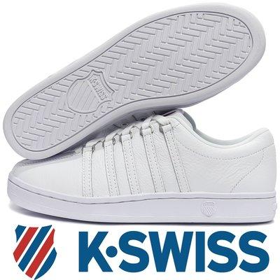 鞋大王K-SWISS 06046-117 白色 Classic 88 經典款全皮質休閒運動鞋,男女同款【免運費】822K