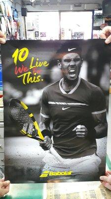*總統網球*(自取可刷國旅卡)  Rafael Nadal Parera 納達爾 10勝海報