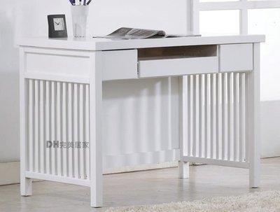 【DH】貨號DH088《娜斯》3.5尺精製白色實木電腦桌˙質感一流˙潔白時尚˙主要地區免運