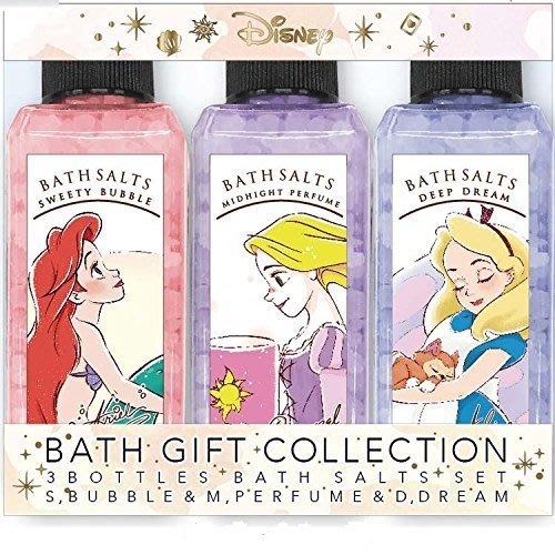 迪士尼Disney《現貨8折》沐浴鹽入浴劑禮盒 3入組~日本正品~愛麗兒樂佩愛麗絲~心心小舖