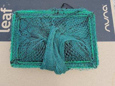 【休閒達人】特殊粗線 中型框 30X45X9米 ( 5分洞 ) 玻璃絲入口 蜈蚣網 / 螃蟹籠 / 蝦籠 / 蛇籠