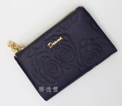 【免運】勝德豐 DIANA 黛安娜 真皮拉鍊中夾  女生皮夾 真皮皮夾 DJ339-156 紫