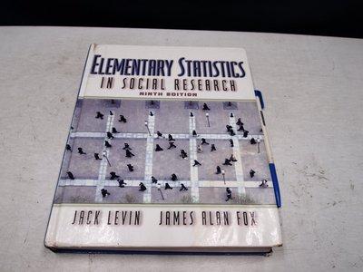 【考試院二手書】《Elementary Statistics in Social Research》(B11Z36) 台中市
