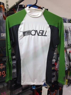 台灣潛水~ O`Neill Skin【白綠】潛水衝浪防曬防磨衣 -XS