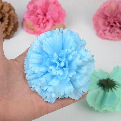 高仿花仿真康乃馨花朵網紅背景婚慶攝影大型工程裝飾布置絹花塑料假花頭
