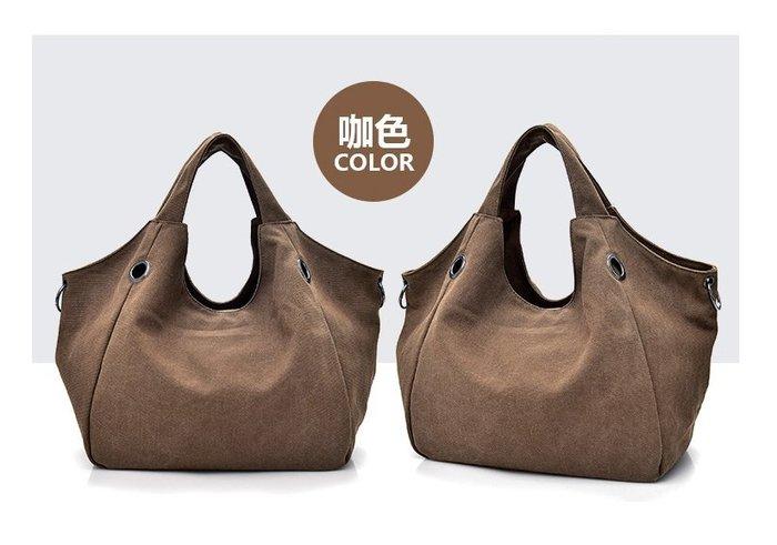 帆布包包 手提包 新款時尚帆布女包 帆布手提包 大容量女單肩包