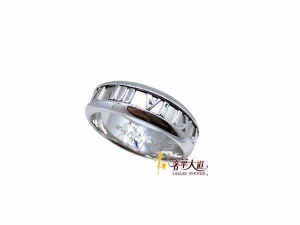 *奢華大道國際精品*【TF066】Tiffany & Co 羅馬數字750 18K寬版戒指#20