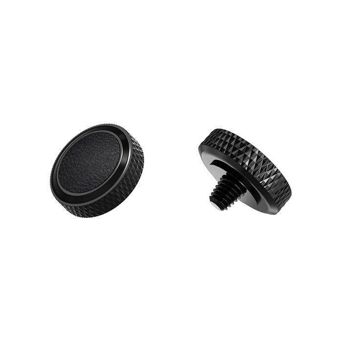 【傑米羅】JJC 機械相機 螺牙式 快門按鈕 增高鈕《純銅製 豪華版》(SRB-BK 黑框黑皮) - 帶防脫圈 防鬆脫