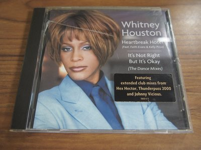 ◎MWM◎【二手CD】Whitney Houston- Heartbreak Hotel 美版, 有細紋刮痕
