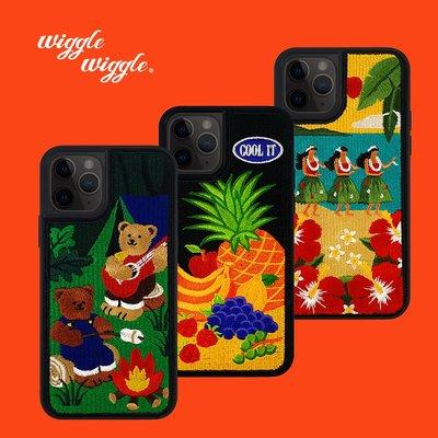 doriwiggle wiggle蘋果刺繡手機殼iPhone11Pro/X/7/8/SE2全包防摔原創
