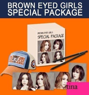 韓版官方周邊Brown Eyed Girls Special Package親筆簽名照&帽子&筆2枝Narsha佳人Gain.Miryo全新