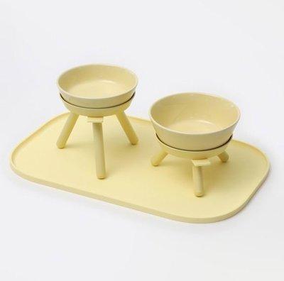 汪喵小屋『Memory Pet』韓國代購Inherent寵物貓狗碗檸檬三腳桌陶瓷碗餐墊