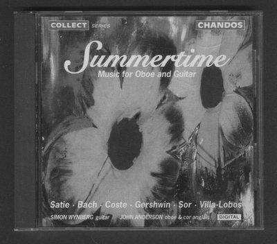 ///李仔糖CD唱片*1992年得國版.SUMMERTIME.雙簧管&吉他音樂二手CD(m13)