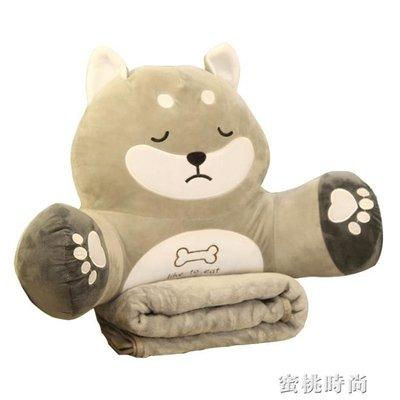 【瘋狂小賣鋪】抱枕被子兩用多功能腰枕靠枕辦公室護腰靠背墊三合一毯子午睡神器