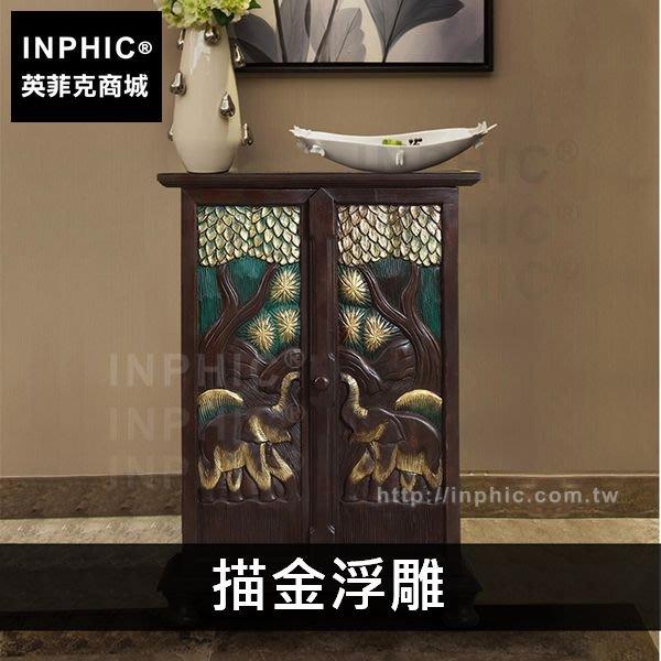 INPHIC-泰式浮雕儲物櫃傢俱大象門廳玄關櫃儲藏櫃東南亞-描金浮雕_FMG3