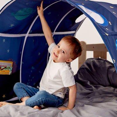 Bed Canopy Kids Play Tents Twin Sleeping 兒童床上帳篷 隧道果味