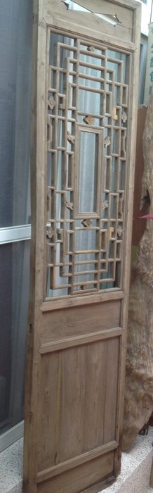 【黑狗兄】老窗花門雕花門,木門,木窗,隔扇,屏風一件----H-06