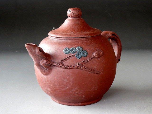 【 金王記拍寶網 】H128  中國近代名家紫砂壺 名家款 手工朱泥壺一把 罕見稀少~