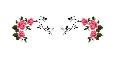 小妮子的家@手繪系列水移畫/古典玫瑰轉印貼紙/家具貼/瓷磚貼/玻璃貼~4084.3