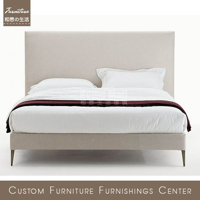 HOME MALL~100%台灣製床頭片//床組 FILEMONE BED複刻款 量身訂製 可選皮/選布 歡迎詢問