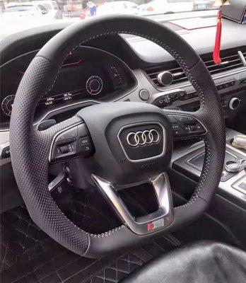 德國原廠件 奧迪 新款17-18s年款 Q7/Q5/A4/A5車型S-line打洞透氣方向盤