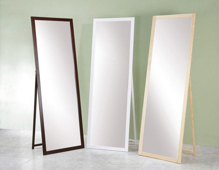 180實木超大立鏡(防爆安全鏡片) 全身鏡 掛鏡 穿衣鏡【馥葉】 型號MR1860 立掛兩用鏡