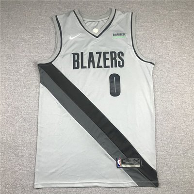 達米安·里拉德(Damian Lillard) NBA波特蘭拓荒者隊 2021新款 獎勵版 灰色 球衣 0號
