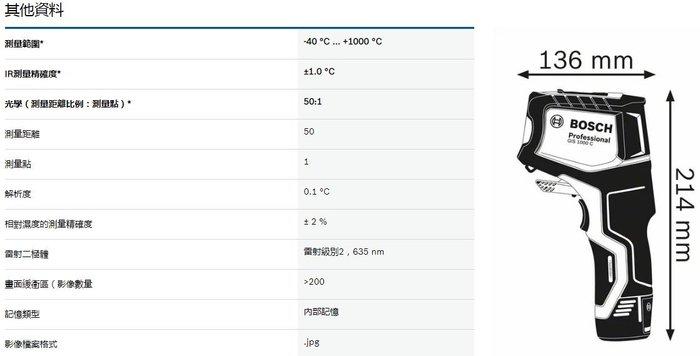 【晉茂五金】博世 熱偵測器 GIS 1000 C 請先詢問價格和庫存
