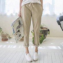 Bellee  正韓 包色款 闆娘推薦綁帶棉質老爺褲   (9色) 【DA6123】預購