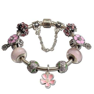 風粉色新品 氣泡琉璃手鍊 diy小飾品節日禮物 女款yq201
