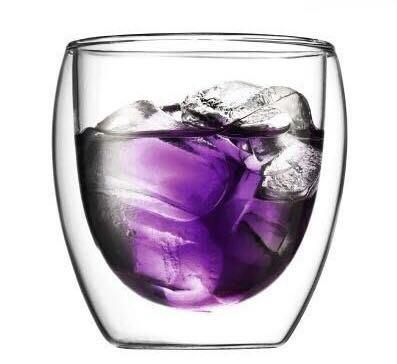 雙層 蛋形雙層玻璃杯 雙層咖啡果汁杯 保溫隔熱杯 bodum 250ml~
