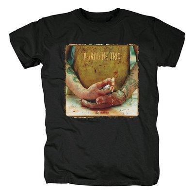 歐美Alkaline Trio朋克恐怖Remains專輯封面搖滾樂隊黑色T恤