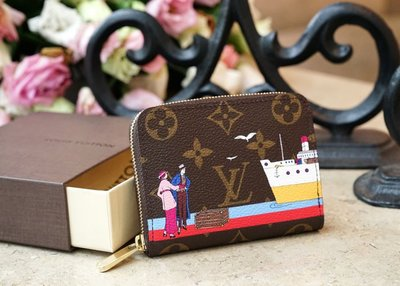 LV M62139 Zip Coin P.Mng Xmas Rouge 聖誕節限量款 拉鏈零錢包