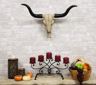 [全新] Long Horn Cow Skull Wall Hanging 70cm 長角 牛頭 壁掛 牆上 裝飾